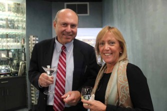 (left to right) ABS Partners' Gregg Schenker and Joann Brennan McGrath of Merritt 7.