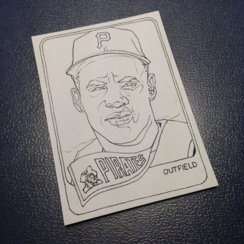 Hand Made Roberto Clemente Baseball Card