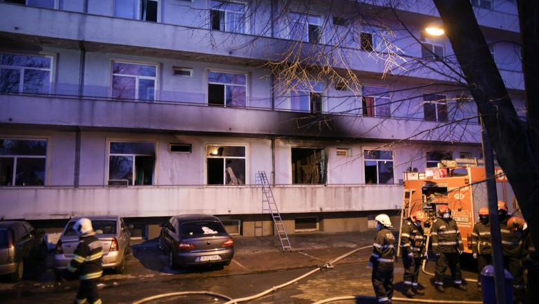 """Primul martor al incendiului de la Matei Balș: """"Se auzeau țipete! A fost o bubuitură, ziceai că e bombă"""""""