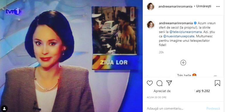 Imagini unice cu Andreea Marin la 20 de ani! Cum arăta prezentatoarea la început de carieră?
