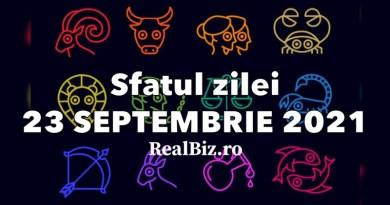 Sfatul zilei 23 septembrie 2021. Capricornii și Săgetătorii trebuie să fie mai atenți la ce mănâncă în această zi, iar Vărsătorii să nu ignore…