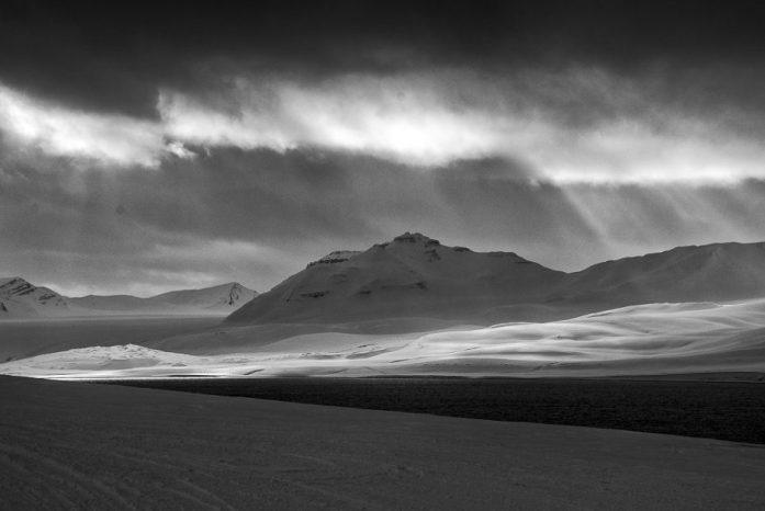 Krajina v okolí Barentsburgu