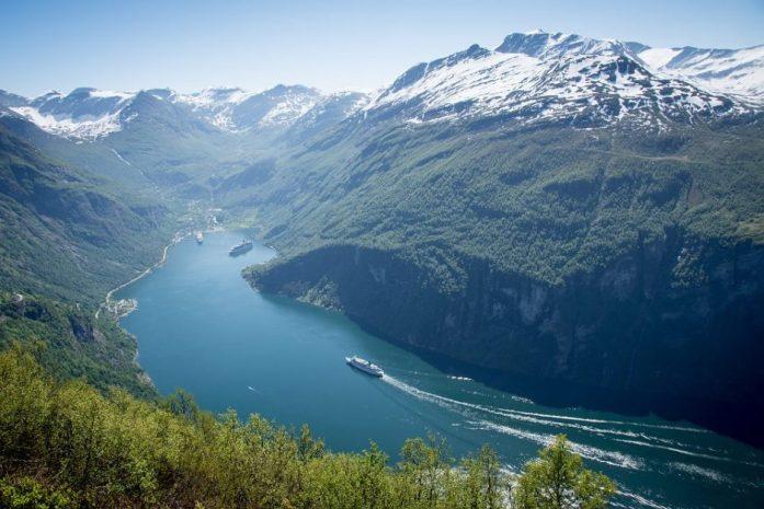 Geirangerfjord v Norsku