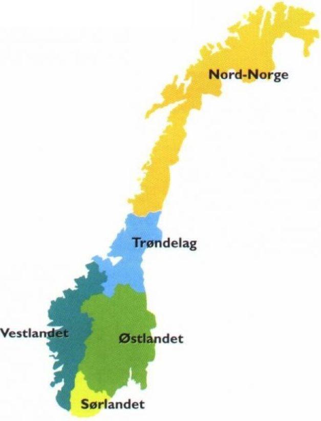 norské regiony
