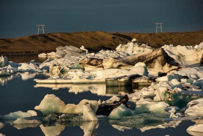 Ledovcová laguna Jokulsarlon na jihu Islandu