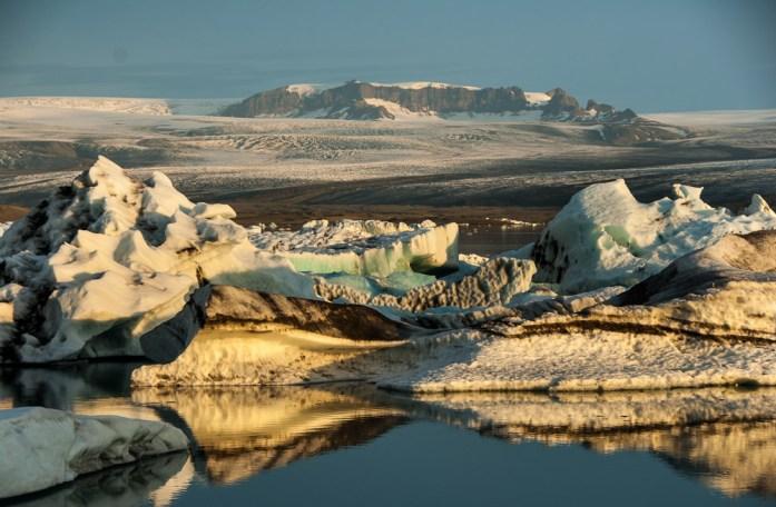 Ledovcová laguna Jokulsarlon na Islandu