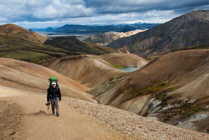 Laugavegur trek: První den skrze Duhové hory