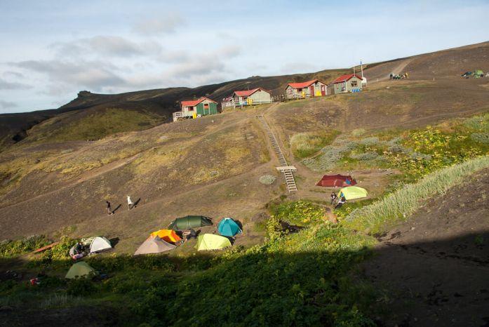 Kempy na Laugavegur treku, Island