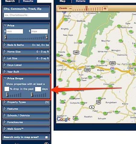 Search for charlottesville Homes by price reduction