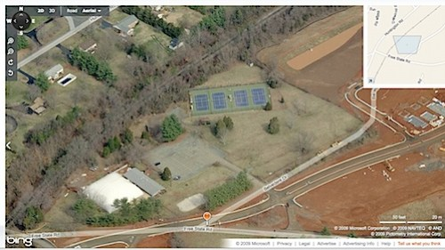 Bing map of Fairview Swim Club in Charlottesville