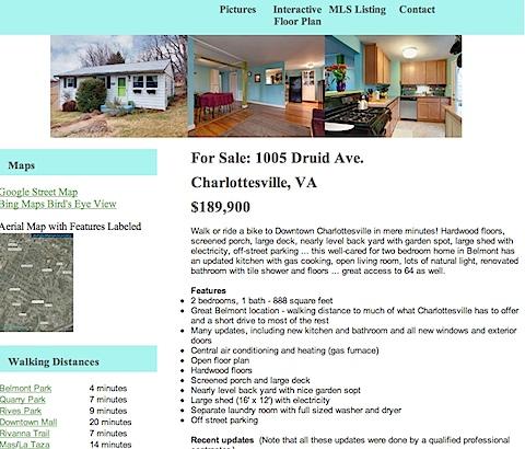 1005 Druid Ave. Charlottesville, VA