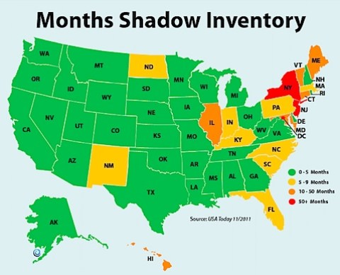 Shadow Inventory graphic from USA Today