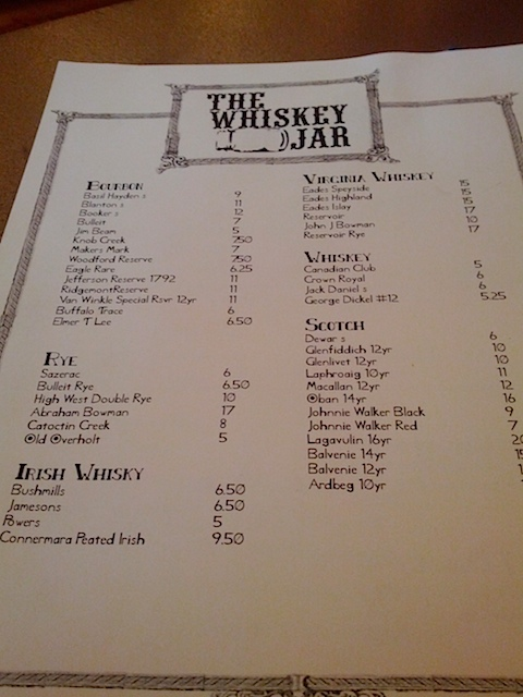 Lots of whisky