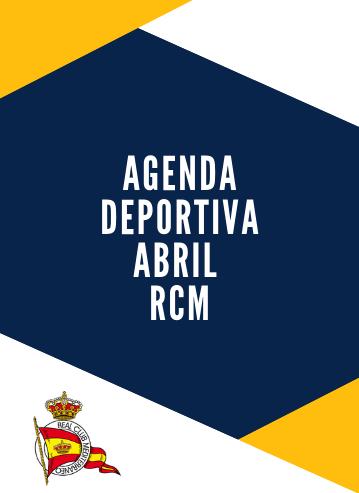 Agenda deportiva RCM abril