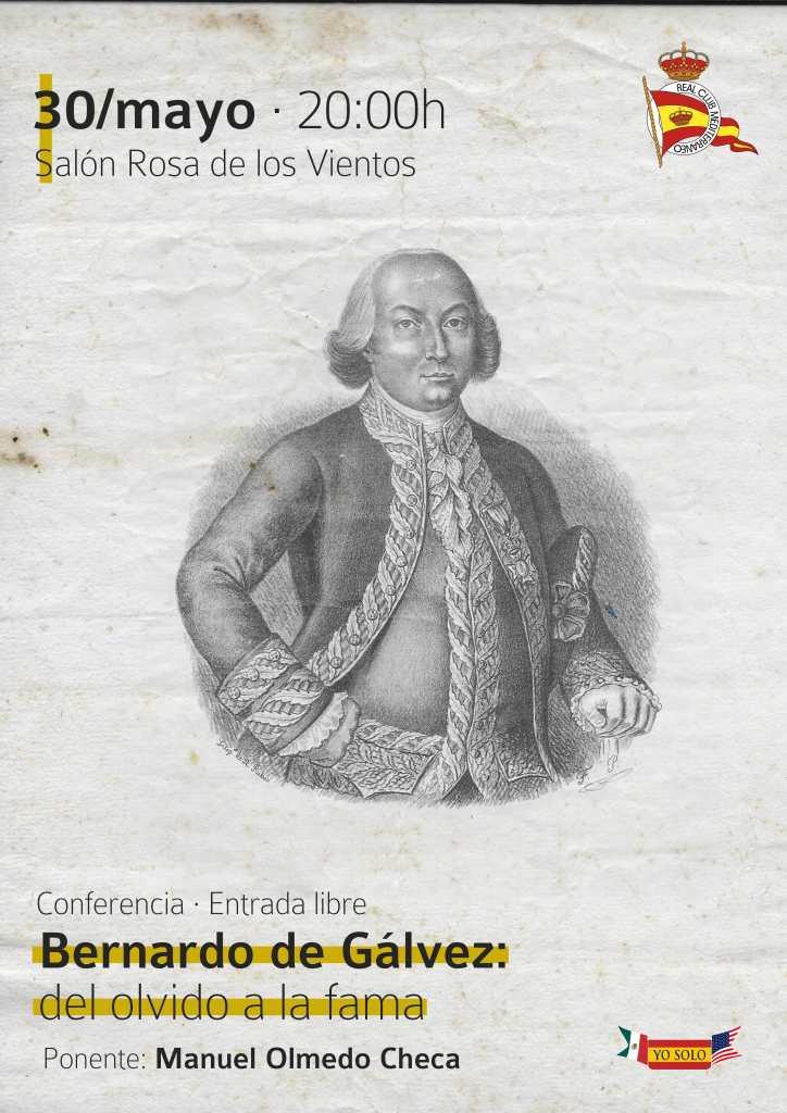 """Conferencia de Manuel Olmedo Checa """"Bernardo de Gálvez: del olvido a la fama"""""""