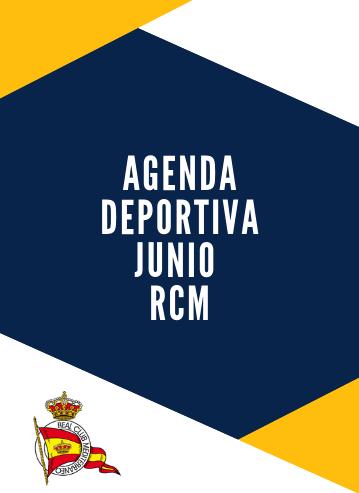 Agenda deportiva RCM junio