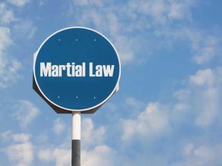 On The Precipice Of Martial Law
