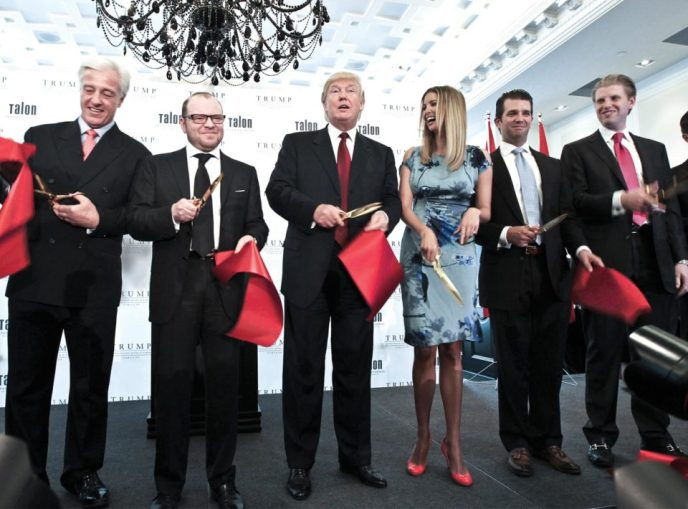 Donald Trump, his kids, and Alexander Shnaider opening Trump Tower Toronto