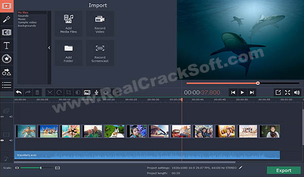 Movavi Video Editor Crack Screenshot