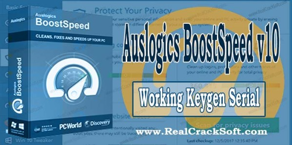 Auslogics BoostSpeed Keygen Cover