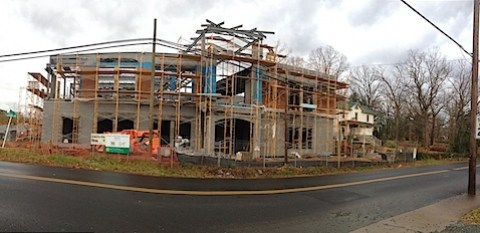 Bricking of the Crozet Library