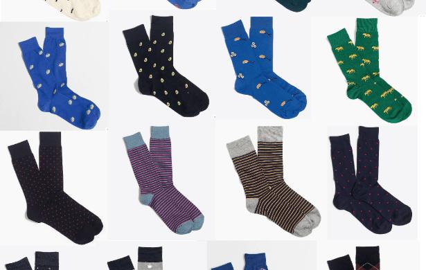 j crew socks