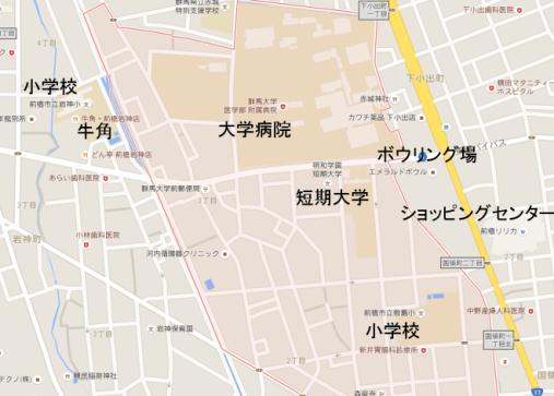 昭和町の地図