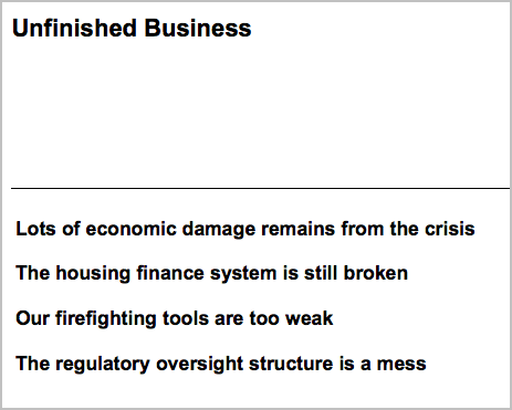 Tim Geithner - Unfinished Business After the Global Financial Crisis