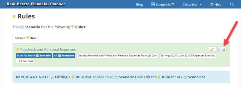 Delete Rule from Scenario