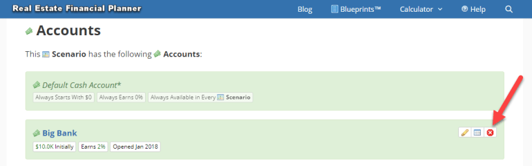 Remove Account from Scenario