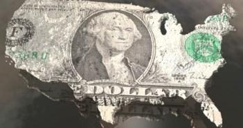 USA dollar map