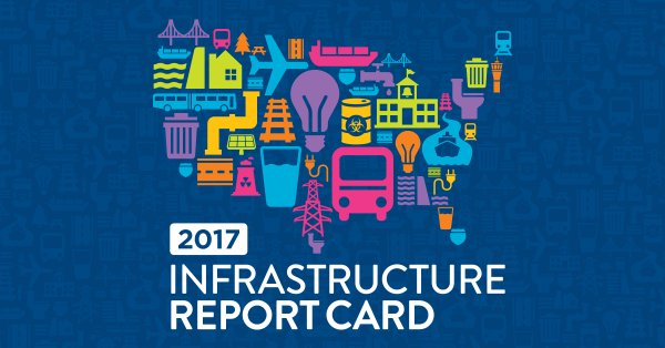 American Civil Engineers Release 2017 Infrastructure Report Card