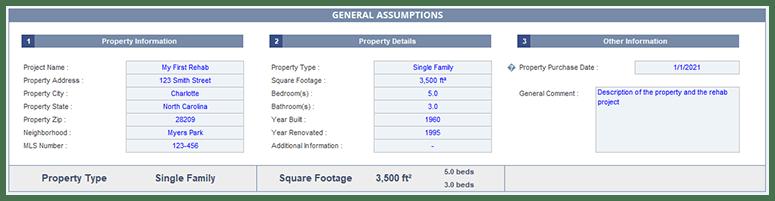 General Assumptions Section775