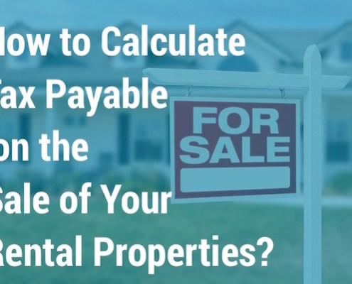 calculate tax payable sale rental properties