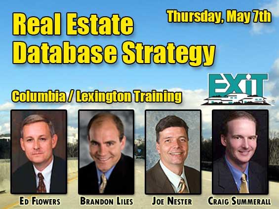 Lexington Columbia SC Real Estate Database Strategy Training Thursday May 7th, 2009