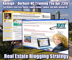 Garner Raleigh NC Real Estate Blogging Strategy Training April 23rd, 2009