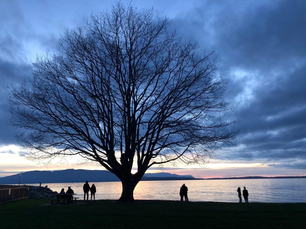 Bellingham Bay at sunset