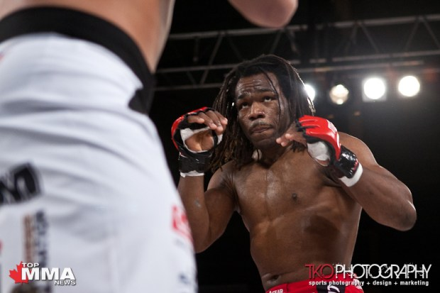 Ryan Jimmo defeats Rameau Thierry Sokoudjou via Unanimous Decision (49-48.5, 49-48.5, 49-48).
