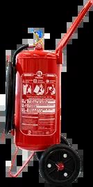Extintor de incêndio ABC sobre rodas pó químico 20 kg