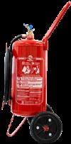 Extintor de incêndio tipo carreta pó químico bc 20 kg