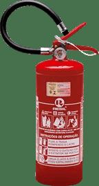Extintor de incêndio portátil pó químico ABC de 4 Kg