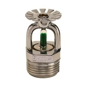 Bico de sprinkler pendente 93 graus resposta padrão 20 mm