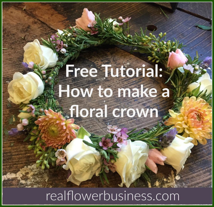 How To Make A Flower Crown, real flower business