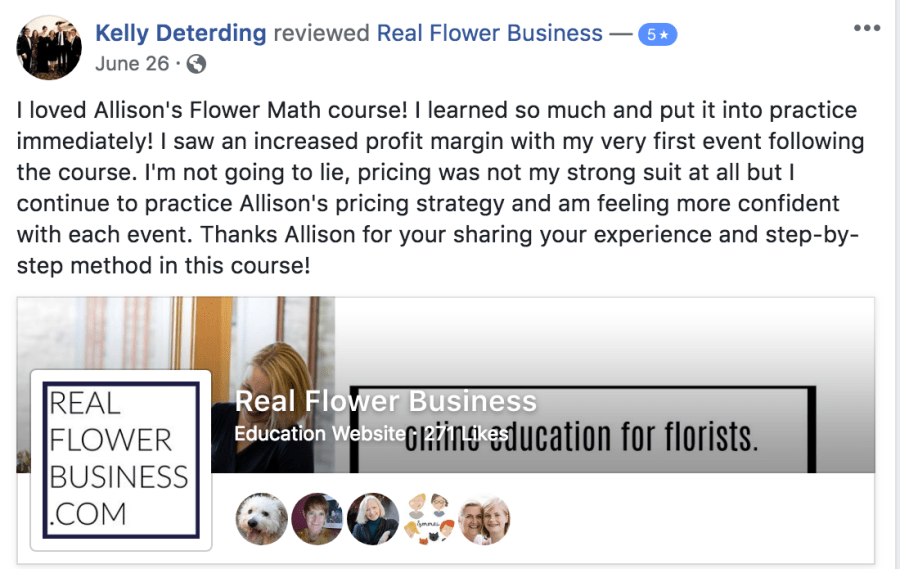 Flower Math, pricing for florists