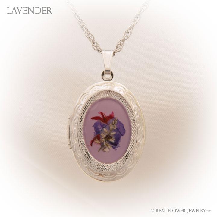 Lavender Wild Flower Pendant