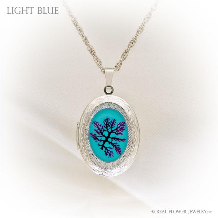 Light Blue Algae Locket
