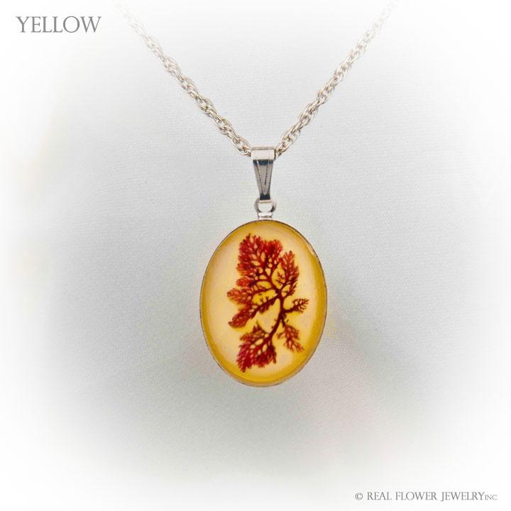 Yellow Algae Pendant