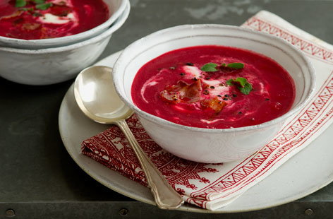 Beetroot soup with sour cream  Tesco Real Food