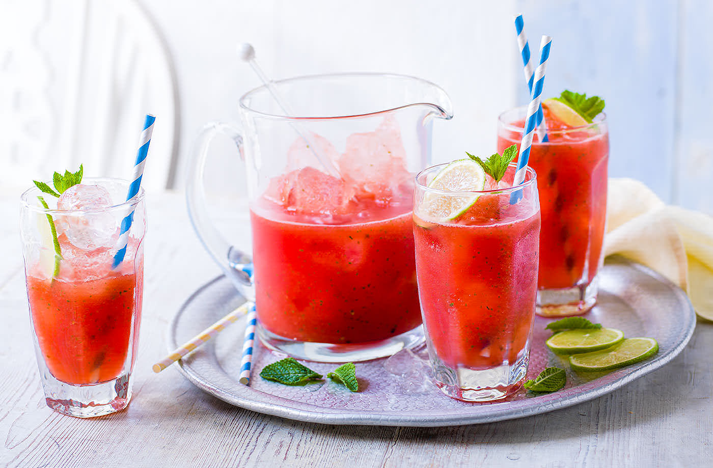 Watermelon Lime Mocktail Mocktail Recipes Tesco Real Food