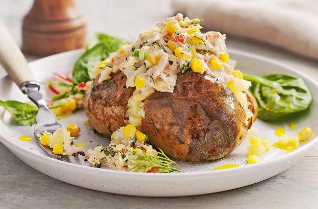 Tuna and sweetcorn jacket potatoes
